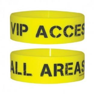 VIP Access All Areas - Rubber Wristband